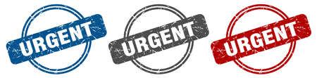 urgent stamp. urgent sign. urgent label set