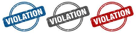 violation stamp. violation sign. violation label set Ilustracja