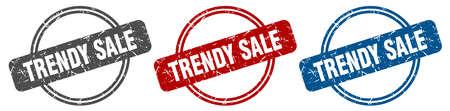 trendy sale stamp. trendy sale sign. trendy sale label set Ilustracja