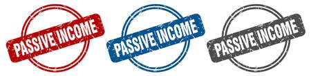 passive income stamp. passive income sign. passive income label set