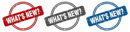 what's new? stamp. what's new? sign. what's new? label set