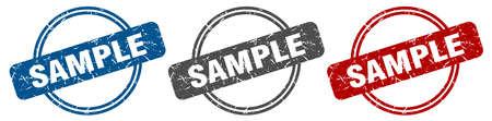 sample stamp. sample sign. sample label set