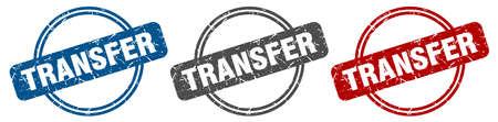 transfer stamp. transfer sign. transfer label set Ilustracja