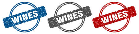wines stamp. wines sign. wines label set Ilustracja