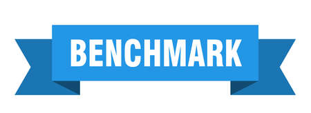 benchmark ribbon. benchmark paper band banner sign Illustration