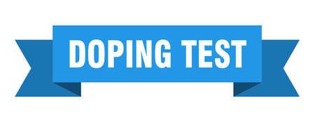 doping test ribbon. doping test paper band banner sign Illustration
