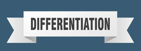 differentiation ribbon. differentiation paper band banner sign Stock Illustratie