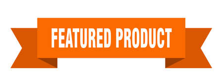 featured product ribbon. featured product paper band banner sign