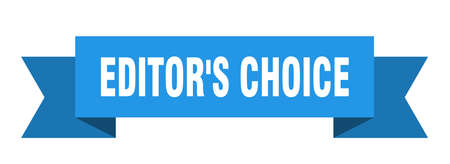 editor's choice ribbon. editor's choice paper band banner sign