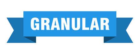 granular ribbon. granular paper band banner sign