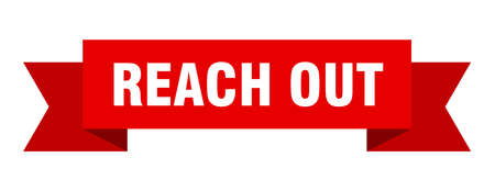 reach out ribbon. reach out paper band banner sign