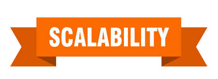 scalability ribbon. scalability paper band banner sign