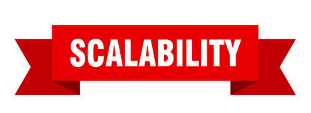 scalability ribbon. scalability paper band banner sign 向量圖像