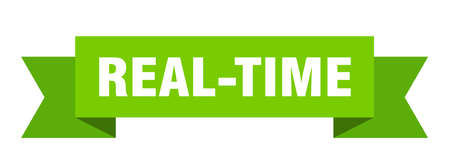real-time ribbon. real-time paper band banner sign