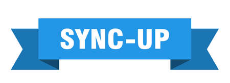 sync-up ribbon. sync-up paper band banner sign