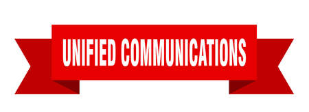 unified communications ribbon. unified communications paper band banner sign