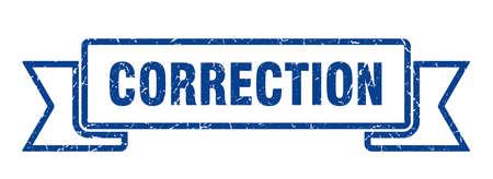 correction ribbon sign. correction vintage retro band.