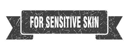 for sensitive skin ribbon sign. for sensitive skin vintage retro band.