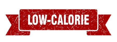 low-calorie ribbon sign. low-calorie vintage retro band. Ilustrace