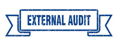external audit ribbon sign. external audit vintage retro band.