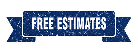 free estimates ribbon sign. free estimates vintage retro band. Vettoriali
