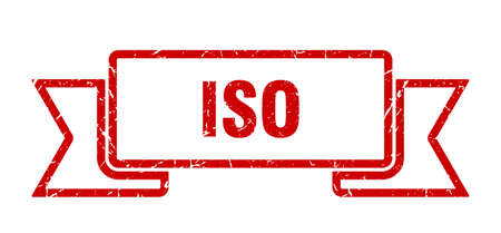 iso ribbon sign. iso vintage retro band. Illustration