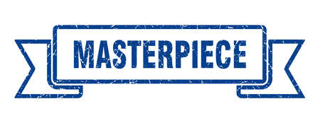 masterpiece ribbon sign. masterpiece vintage retro band. 矢量图像