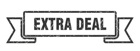 extra deal ribbon sign. extra deal vintage retro band.