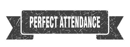perfect attendance ribbon sign. perfect attendance vintage retro band. Vettoriali