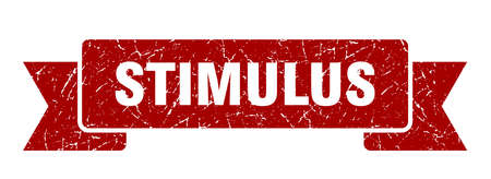 stimulus ribbon sign. stimulus vintage retro band.