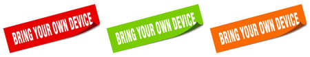 bring your own device paper peeler sign set. bring your own device sticker