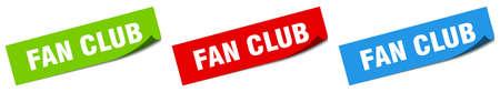 fan club paper peeler sign set. fan club sticker