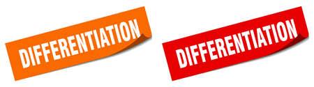 differentiation paper peeler sign set. differentiation sticker