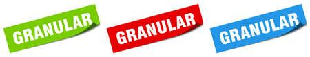 granular paper peeler sign set. granular sticker