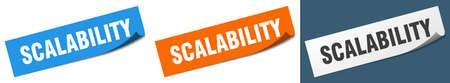 scalability paper peeler sign set. scalability sticker