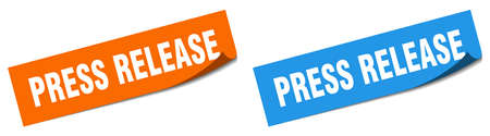 press release paper peeler sign set. press release sticker 向量圖像