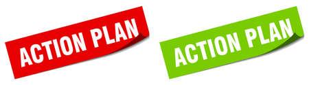 action plan paper peeler sign set. action plan sticker