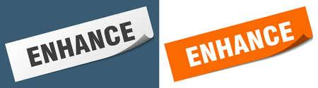enhance paper peeler sign set. enhance sticker