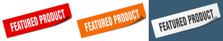 featured product paper peeler sign set. featured product sticker