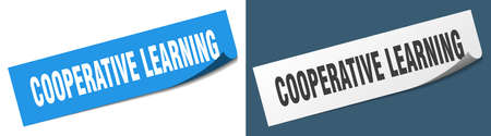 cooperative learning paper peeler sign set. cooperative learning sticker