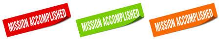 mission accomplished paper peeler sign set. mission accomplished sticker