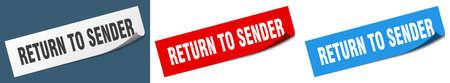 return to sender paper peeler sign set. return to sender sticker