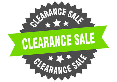 clearance sale round isolated ribbon label. clearance sale sign Ilustração