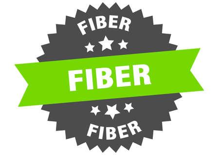 fiber round isolated ribbon label. fiber sign