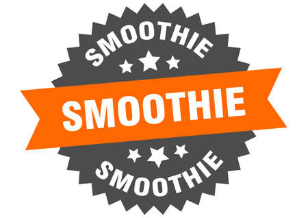 smoothie round isolated ribbon label. smoothie sign