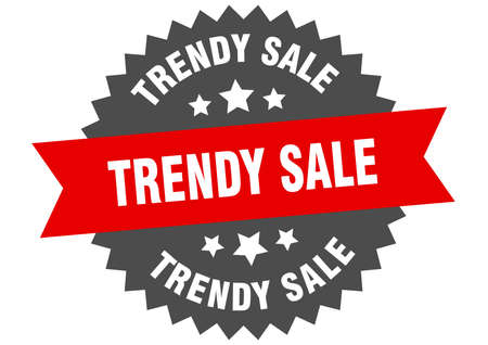 trendy sale round isolated ribbon label. trendy sale sign