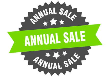 annual sale round isolated ribbon label. annual sale sign Ilustração