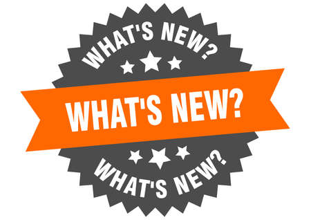 what's new? round isolated ribbon label. what's new? sign Ilustração