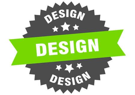 design round isolated ribbon label. design sign Ilustração