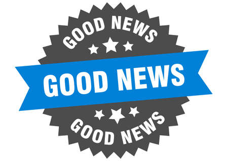 good news round isolated ribbon label. good news sign